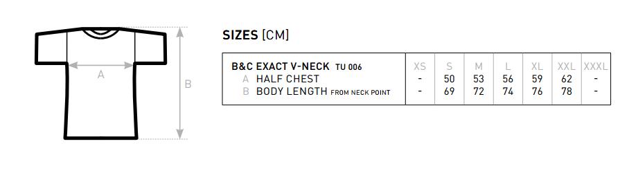 Maattabel Exact V-Neck