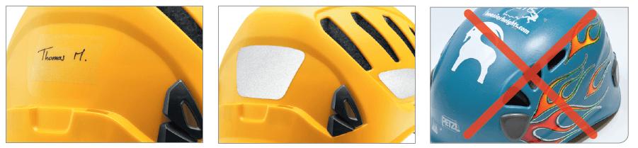 Helm Labelen Beschermingsmiddel PBM bescherming onderhoud reparatie
