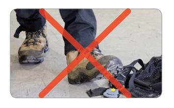 Niet opstappen helm bescherming onderhoudstips beschermingstips