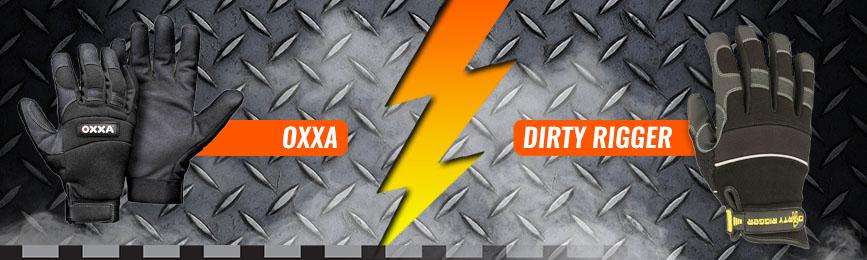 verschillen tussen oxxa en dirty rigger werkhandschoenen